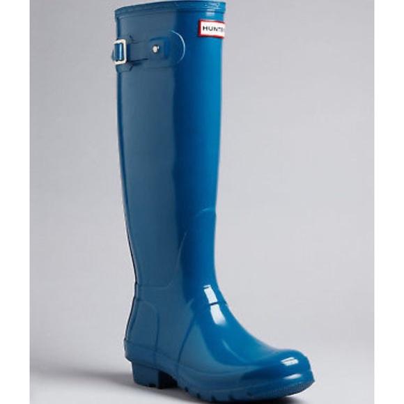 Hunter Shoes   Hunter Ocean Blue Glossy